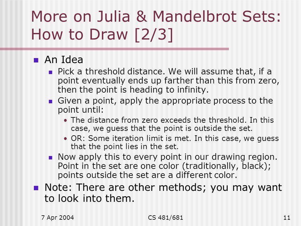 More on Julia & Mandelbrot Sets: How to Draw [2/3]